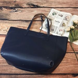 {Street Level} Navy and bronze tote